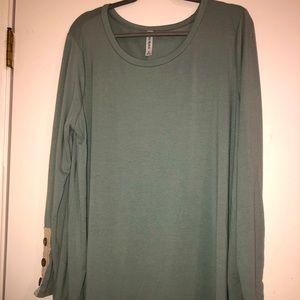 Sage green long sleeve shirt size 3x